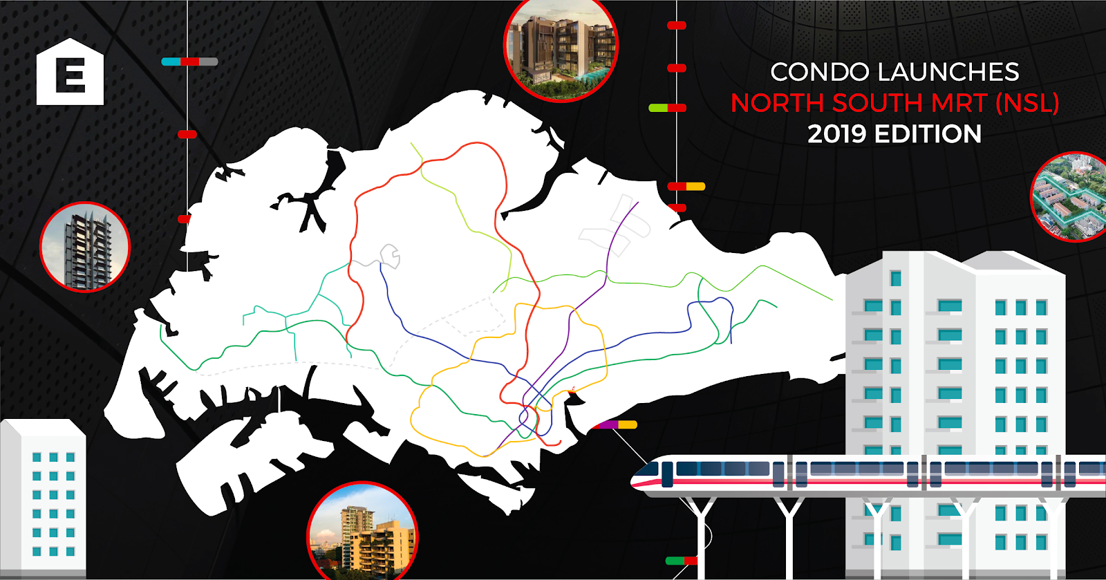 New Condo Launches within 500m of a North South Line (NSL) Station: 2019 Edition